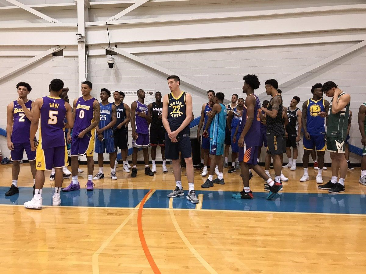 The First Scene of a Rivalry? The 2017 NBA Rookie Photo Shoot