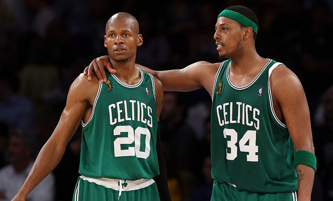 Paul Pierce 'Buries The Hatchet' With Ray Allen