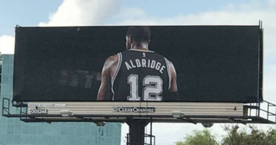 What Does The Mysterious LaMarcus Aldridge Billboard mean?