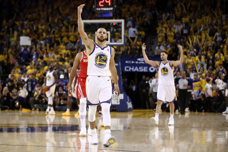 new products cc1df 37dbf Day 32 of The NBA Playoffs  Steph Curry Comes To Life, Warriors Stamp Class