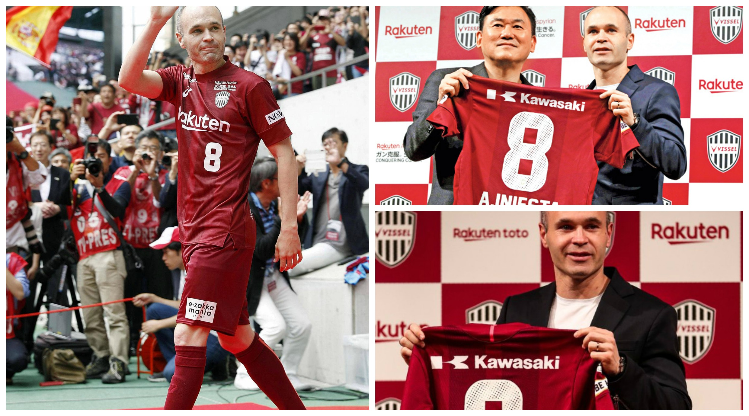 Andres Iniesta Moves to Japanese Club Vissel Kobe
