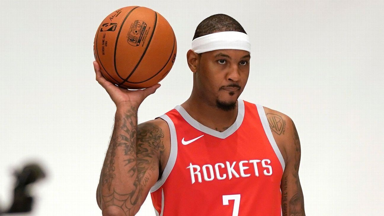 "Carmelo Anthony Now ""Open"" To Coming Off the Bench For Rockets"