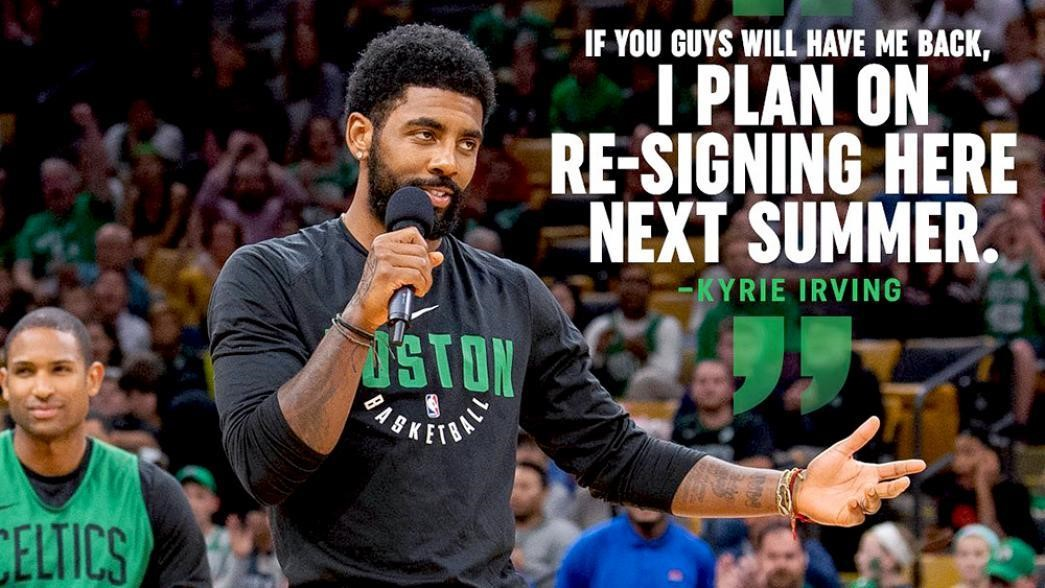 "Kyrie Irving Tells Boston: ""I Plan on Re-signing Here Next Year"""
