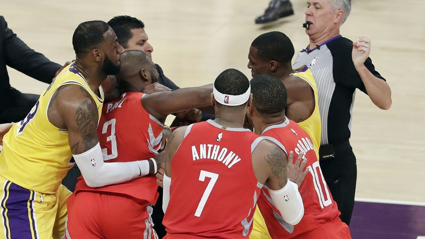 Suspensions Handed Out After Lakers-Rockets Brawl