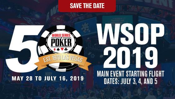 The World Series of Poker Returns to Las Vegas May 28 - July 16, Celebrates 50th Anniversary