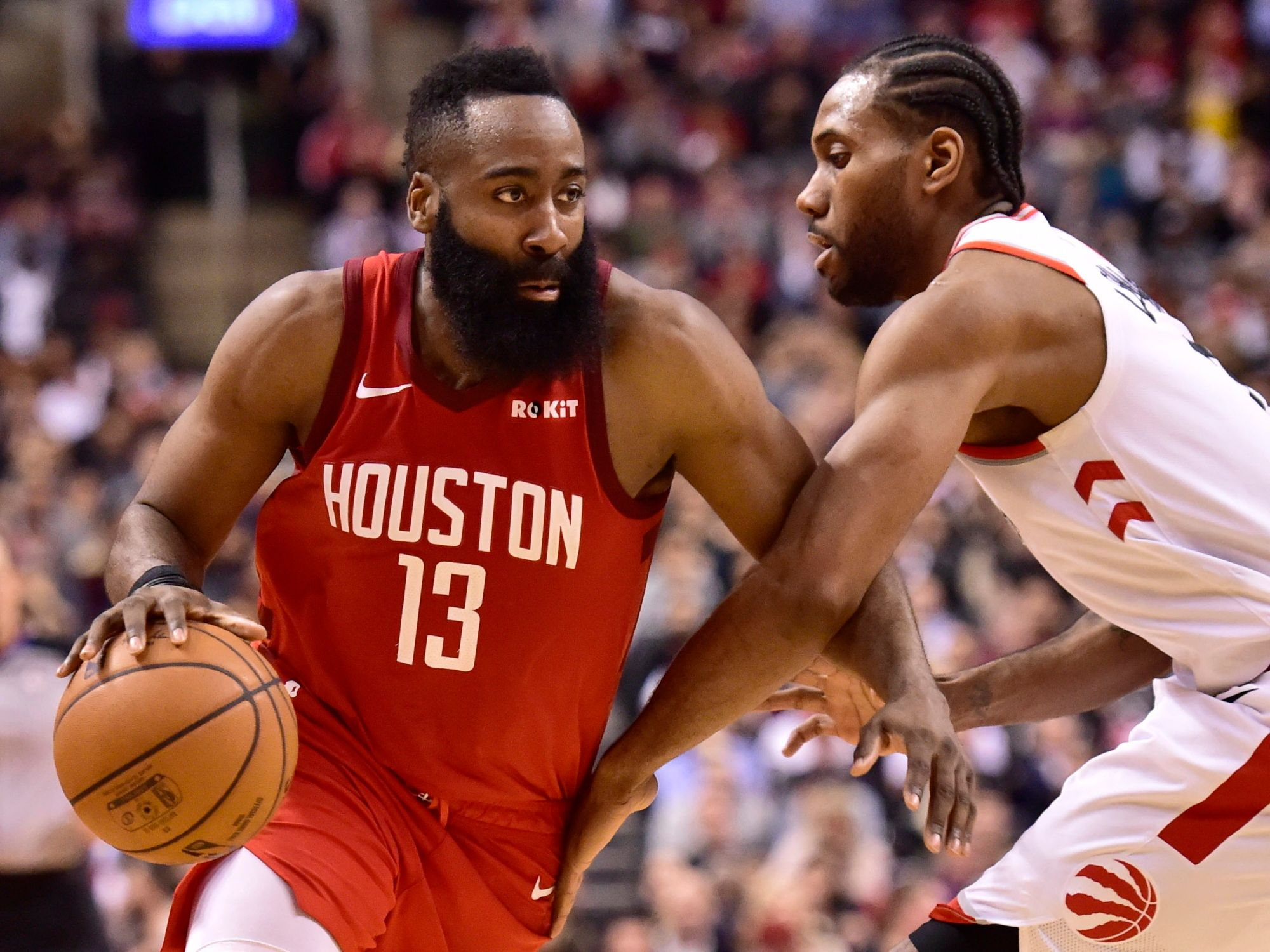NBA Daily Rundown: Harden Launches Rockets Past Raptors And Celtics Drub Warriors